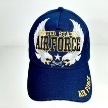 United States Air Force Men's Embroidered Ball Cap Navy Blue Acrylic - $12.37