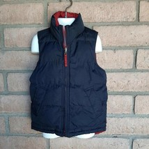 Gap Kids Reversible Zipper Puffer Vest Boys XS 4-5 Dark Blue Brick Red P... - $23.75