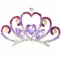 Elegant Love Shape Crown Princess Bride Tiara Comb Inserted image 1