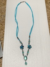 Handcrafted Blue Beaded Necklace - $20.00