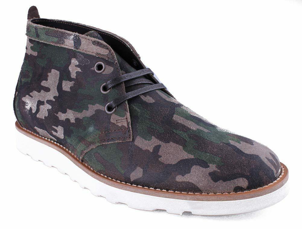 WeSC Lawrence Mi Haut En Noyer Camouflage Cuir Chaussures Nib