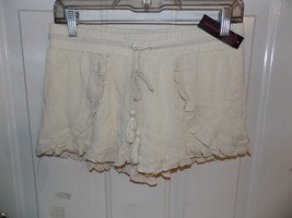 No Boundaries Natural Over Soft Shorts w/ Tie Front Size M (7/9) NEW LAS... - $15.39