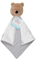 Disney Baby Winnie The Pooh White/Gray Security Blanket (a) - $59.39
