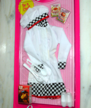 Barbie doll clothes Cool Career Chef uniform with Duncan Hines mix recip... - $39.99