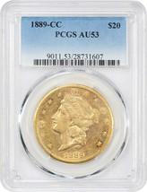 1889-CC PCGS AU53 - Liberty Double Eagle - Gold Coin - $4,538.63