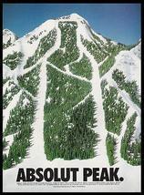 Absolut Peak Mountain Ski Slope 1994 Photo Ad Absolut Vodka - $14.99