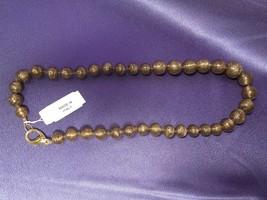 Beautiful Vintage Murano Gold Fleck Graduate Bead Necklace Italy - $111.38