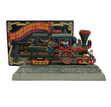 1992 Enesco On The Right Track Casey Jones Music Box Deluxe Action Music... - $84.11