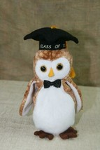 TY Beanie Baby Wisest The Owl With Tags Plush 2000 Retired Stuffed Animal - $5.57