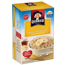 Quaker Instant Oatmeal Breakfast Cereal, Banana and Maple, 12.1 Ounce Pack of 2