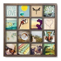 Photo Frame Picture Wooden Wall Decor Art Grid Display Holder Square Wal... - $56.21
