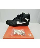 Nike Strike Force High Top Mens Size 10 Athletic Shoes Cleats Black Whit... - $34.82