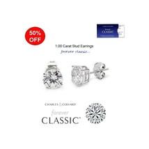 1.00 Carat Total Moissanite Forever Classic Stud Earrings (Charles & Col... - $99.00