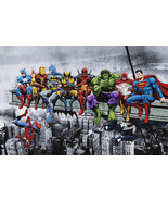 Marvel & DC Superheroes Lunch Atop A Skyscraper - Digital Download - $29.99