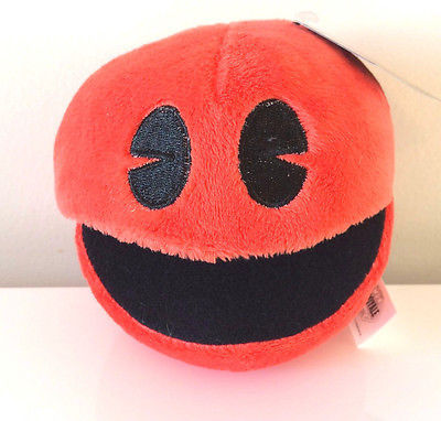 Stuffed Toy Pac-Man Plush 5 /'/' Licensed USA Brand New Pink Ghost PINKY