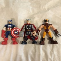 Marvel Hasbro 2012 Action Figures Toys Thor Wolverine Captain America 5 ... - $9.98
