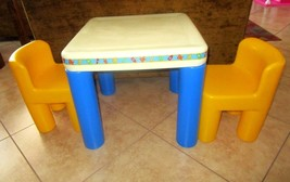 NO SHIPPING. Little Tikes Child Size TABLE & CHAIRS SET * Vintage Excell... - $90.00
