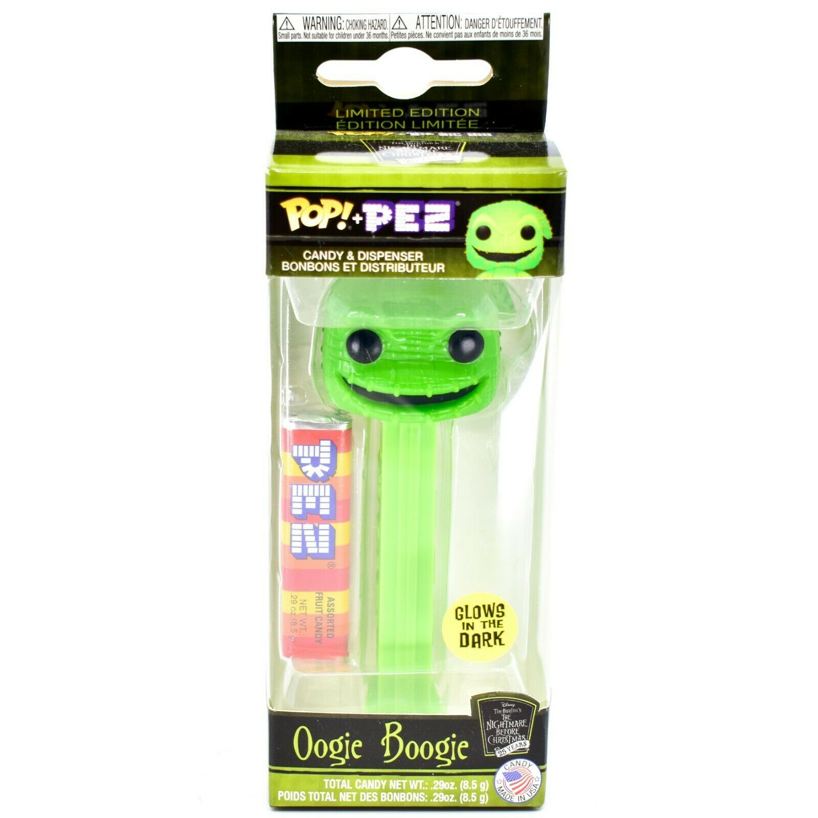 Funko Pop Pez Limited Edition Oogie Boogie Nightmare Before Christmas 25 Years