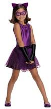 DC Super Villain Collection Catwoman Girl's Costume with Tutu Dress, Medium - $34.12