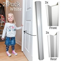 Cardea Child Safety Door Finger Pinch Guard Hinge Protectors Pack - White (2 Pac