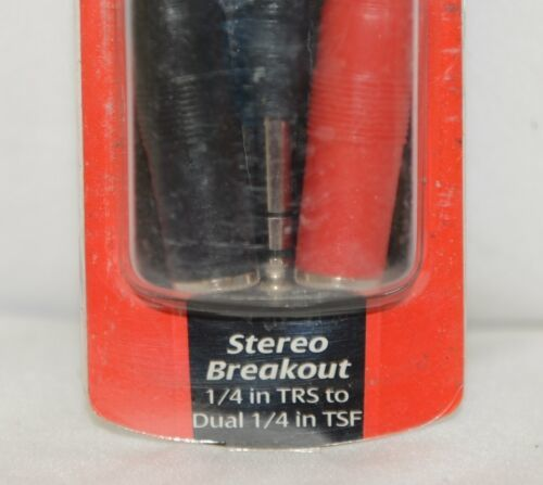 Hosa Technology YPP117 Stereo Breakout Quarter Inch TRS To Dual TSF