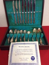 Vintage 1847 Rogers Bros Springtime Silverware Set 51p In Chest - $150.00