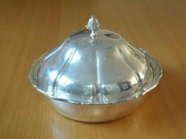 Vintage Epns Charles S. Green & Co Tableware Serving Warmer Bowl Lidded 1900s - $27.06