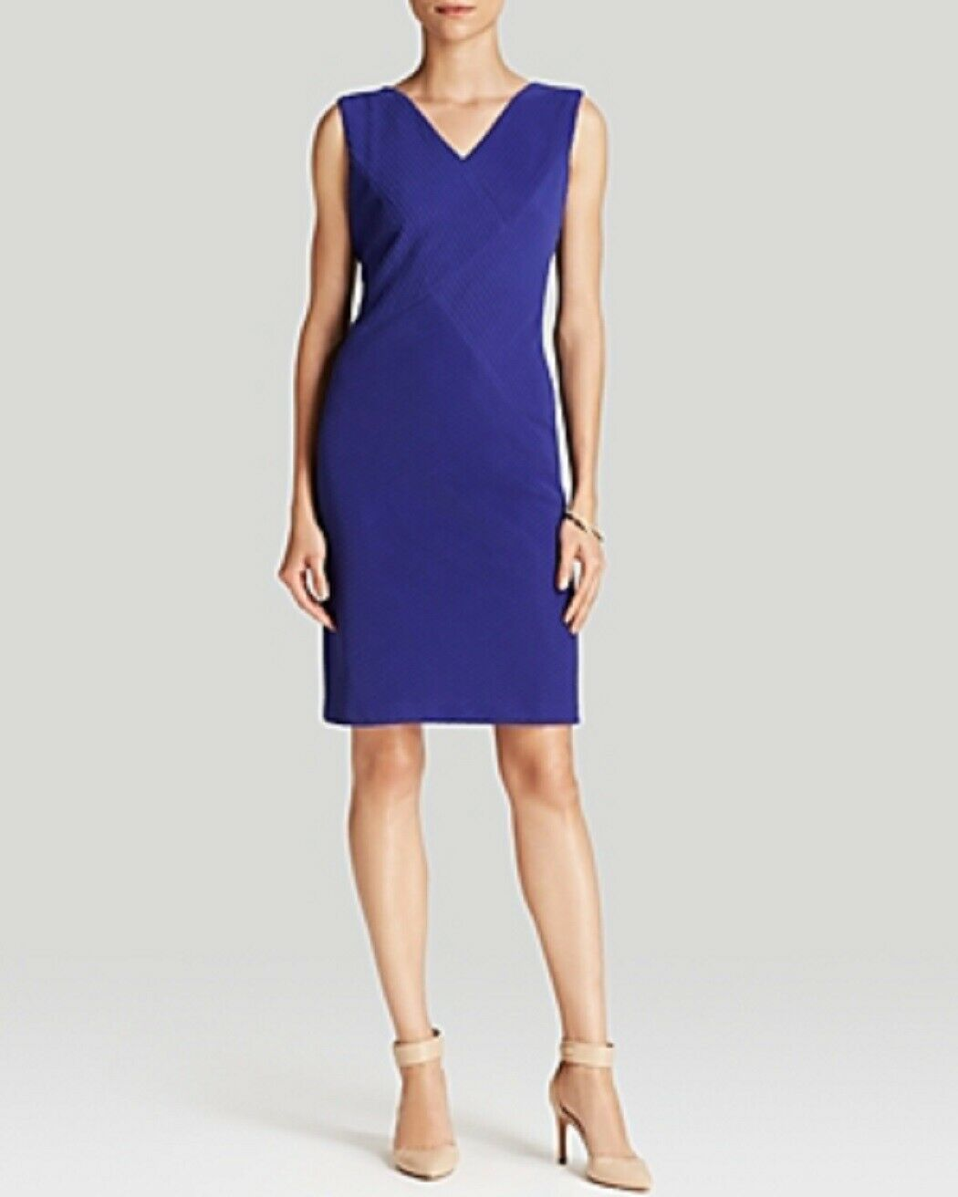 Anne Klein Dress Sz 4 Ultra Violet Purple Sleeveless Business Cocktail Party