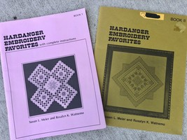 Hardanger Embroidery Favorites Book 1 & 2 with Instructions Meier & Watnemo - $27.72