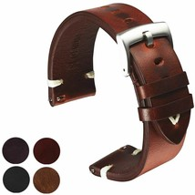 Watch Strap Belt Genuine Leather Watchband Vintage Men Watch Replacement... - $16.14