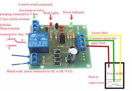 AC/DC 9-12 V LIQUIDO wasserstandsregler Sensore Modulo livello dell'acqua - $18.40