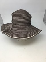 women's san diego hat co.  brown cream one size sun hat - $23.36