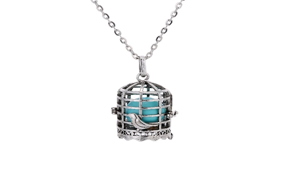 Primary image for New Antique Pregnancy Ball Sound Ball Cage Locket Pendant