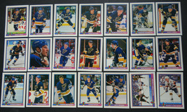 1991-92 Bowman St. Louis Blues Team Set of 21 Hockey Cards - $8.00