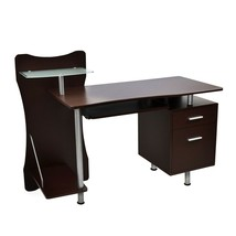 Techni Mobili Stylish Computer Desk Workstation w/ Multiple Shelves and ... - $176.39