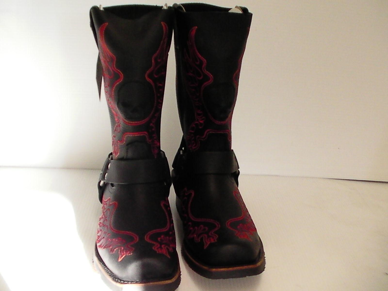 001a15c87011 Harley Davidson boots Slayton D93141 leather black oil resisting size 11 us