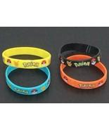 Pokemon Wrist Band Lot of 4 Bracelet Catch em all - $10.84
