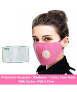 Face Mask with PM2.5 Carbon Filter, Unisex, Cotton, Reusable, Washable, ... - $8.75