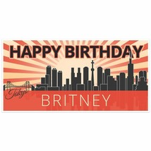 Tokyo Birthday Banner Personalized Party Backdrop - $22.28+