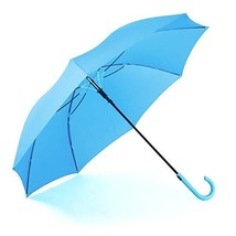RUMBRELLA Blue Umbrella Auto Open with J Hook Handle, 50IN Stick Umbrell... - $34.83