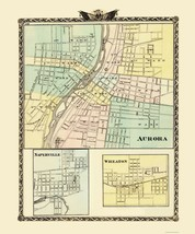 Aurora, Wheaton, Naperville Illinois - Warner 1870 - 23 x 27.61 - $36.95+