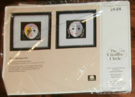 """Creative Circle #1848 Masquerade 2 Pictures Unopened 5"""" x 5"""" Embroidery ... - $7.84"""