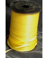 """Nice Large Roll of Ribbed Curling 3/16"""" Ribbon, VG COND GREAT Yellow  COLOR - $9.89"""