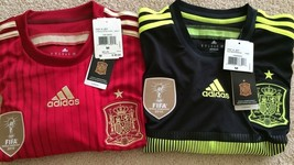 $90 Authentic Adidas Spain 2014/15 World Cup Home and 3rd Jersey M & L - $59.99