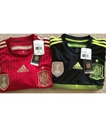 $90 Authentic Adidas Spain 2014/15 World Cup Home and 3rd Jersey M & L - €52,94 EUR