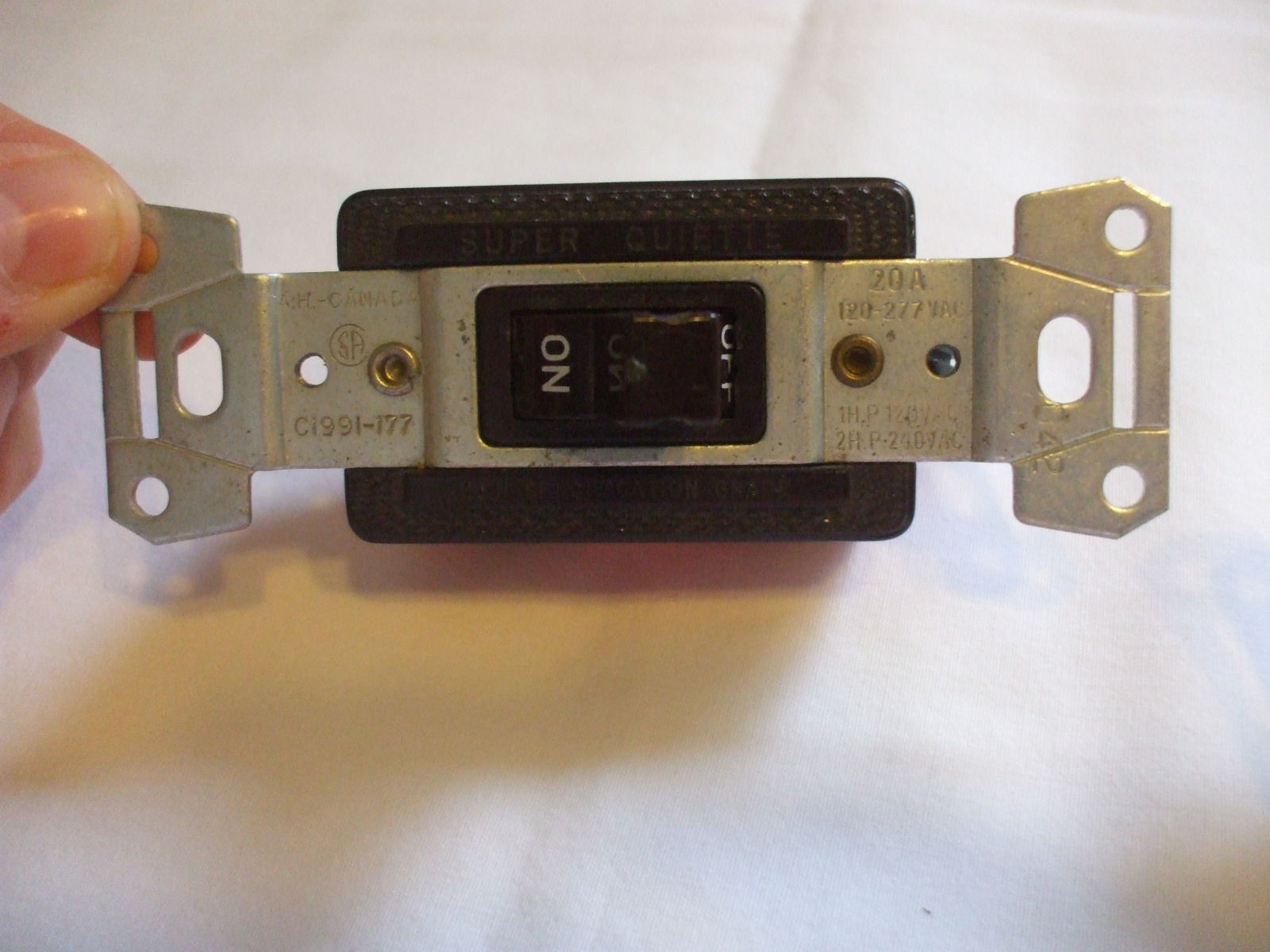Toggle Pilot Light Switch Brown On Off Crousse Hinds
