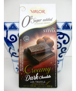 Valor Spain Creamy Dark Chocolate Truffle Bar with STEVIA no sugar added - $7.91