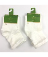 Kate Spade Cream Anklet Socks Kick Up Your Heels Two Pair Lot - $7.88