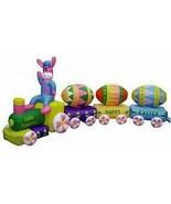 Easter Air Blown Inflatable Easter Bunny EggSpress Train Yard Decoratio... - $165.94
