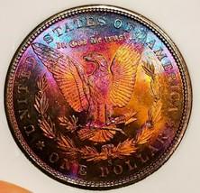 1880 S BU++++/GEM MORGAN SILVER DOLLAR * IRIDESCENT COLORS. 822 - $151.90